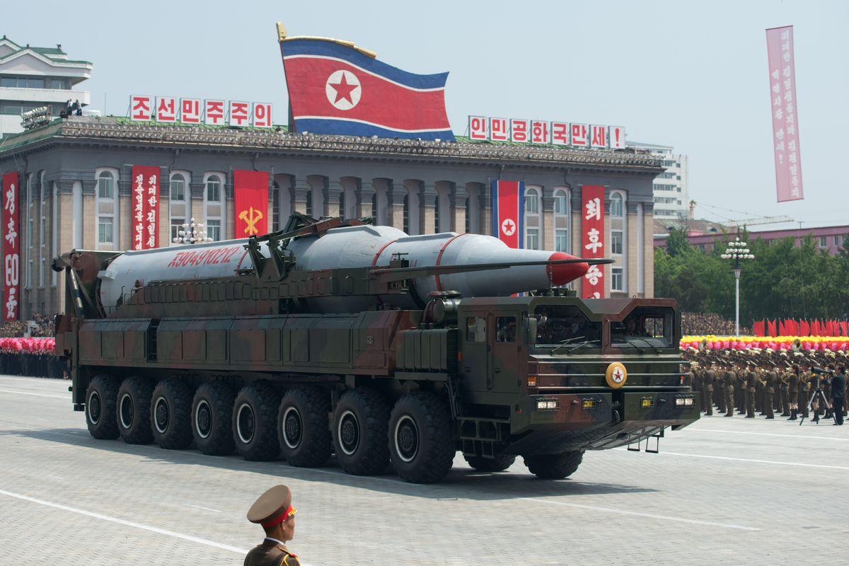 North Korean military launching a Ballistic Missile
