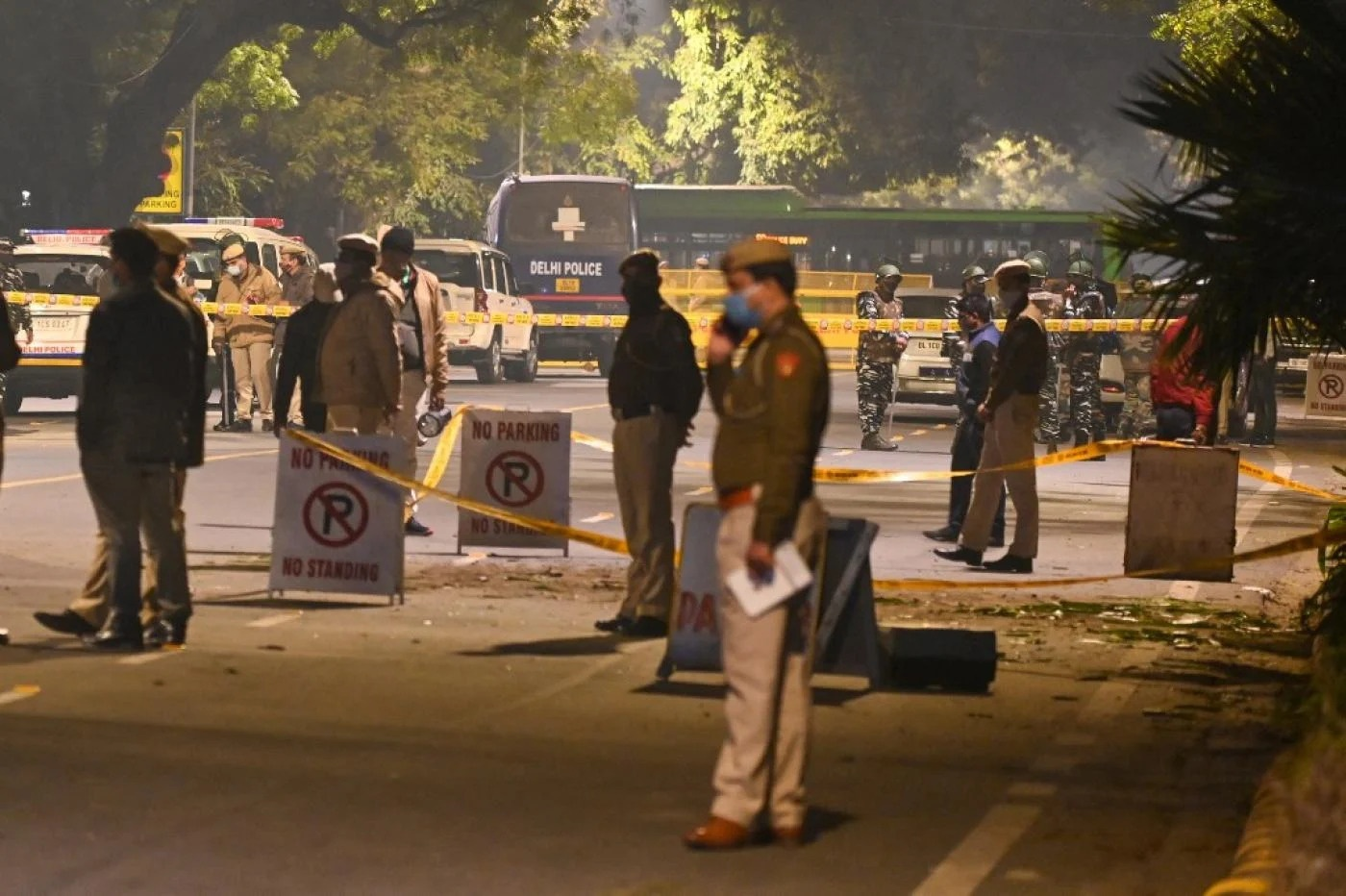 Indian military on-site after a minor blast near Israeli Embassy